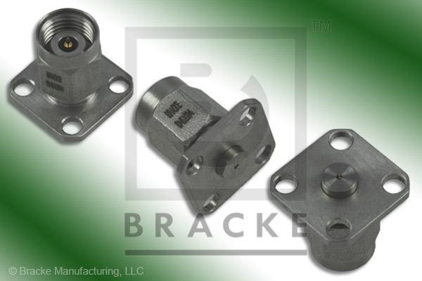 "2.4mm Male .500"" Panel Mount Stripline Circuit Connector .011"" x .003"" Tab Contact"