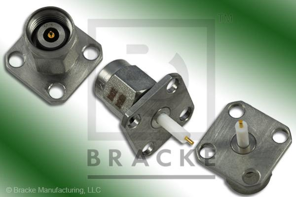 "2.4mm Male .500"" Panel Mount Extended Dielectric Connector .024"" Round Contact"