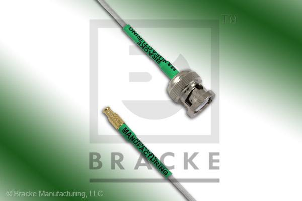 MCX Plug to BNC Male Cable Assembly RG196A/U