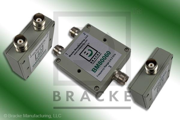 TNC Female Power Divider Frequency Range 2-4.2 GHz 2 Output Ports, Max VSWR 1.15:1