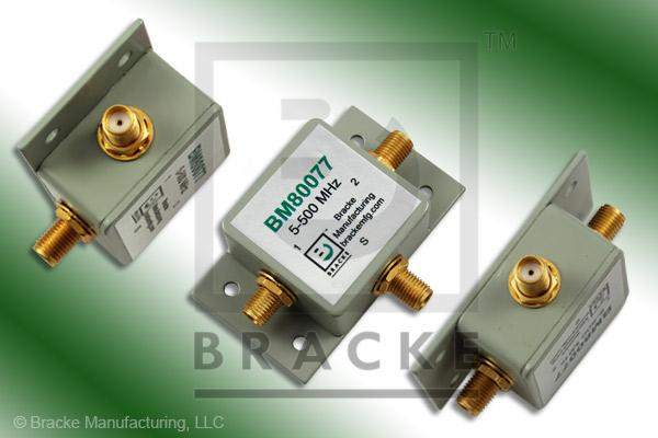 SMA Female Power Divider Frequency Range 5-500 MHz 2 Output Ports, Max VSWR 1.25:1