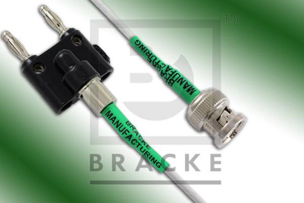 Banana Plugs to BNC Male Cable Assembly RG188-Double