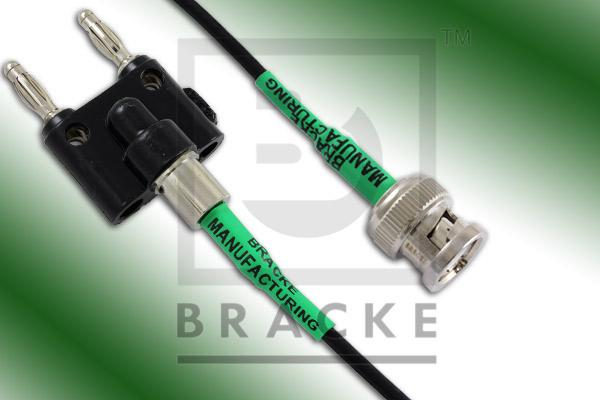 Banana Plugs to BNC Male Cable Assembly RG174A/U