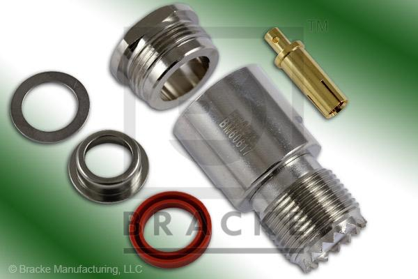 UHF Female Connector Clamp RG8, RG9, RG11, RG213, RG214, RG225, RG393