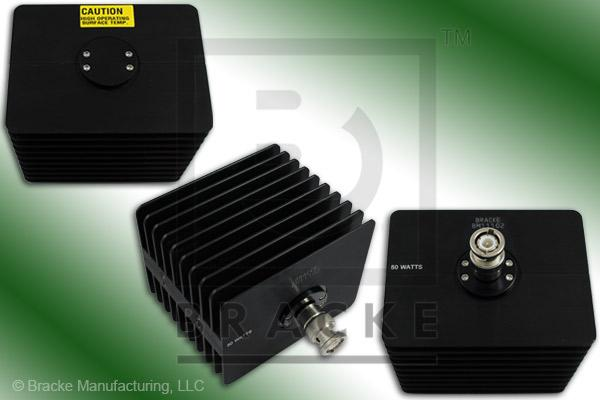 50 Ohm BNC Male High Power Termination, 50 Watts, 4 GHz VSWR 1.25:1 Max
