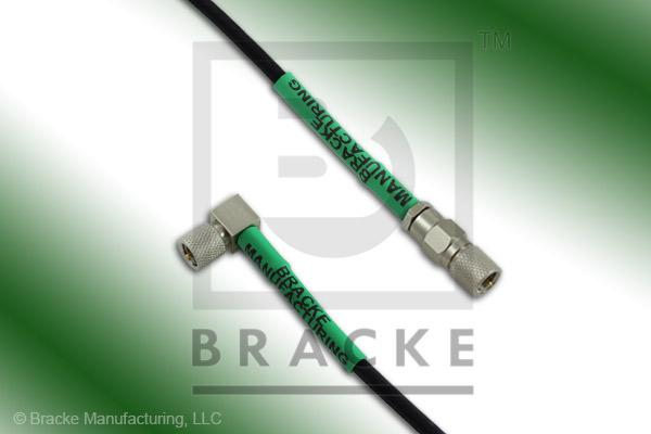 10-32 Male to 10-32 Male Right Angle Cable Assembly RG174A/U