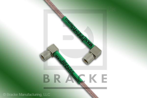 10-32 Male Right Angle to 10-32 Male Right Angle Cable Assembly RG316/U