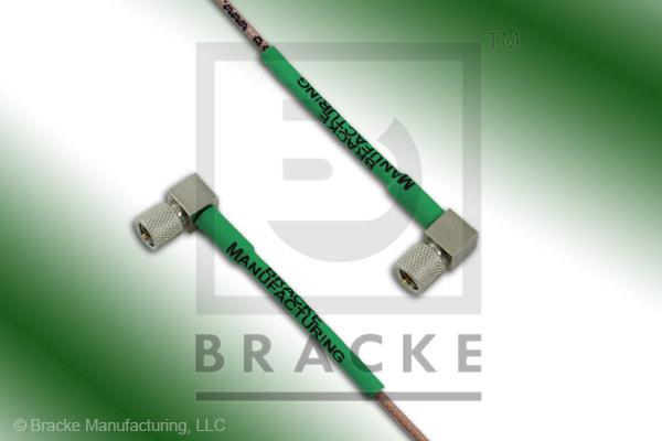 10-32 Male Right Angle to 10-32 Male Right Angle Cable Assembly RG178B/U