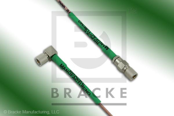 10-32 Male to 10-32 Male Right Angle Cable Assembly RG178B/U