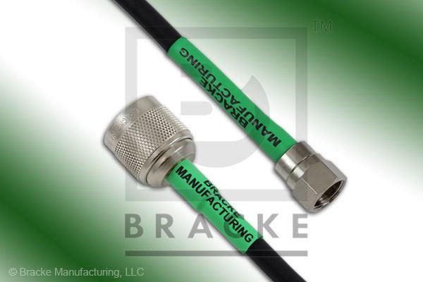 F Male to 75 Ohm N Male Cable Assembly RG59B/U