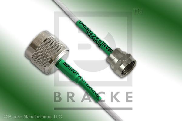 F Male to 75 Ohm N Male Cable Assembly RG187A/U