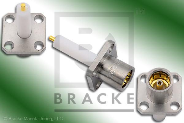 "BMA Jack .500"" Panel Mount Extended Dielectric Connector .050"" Round Contact"
