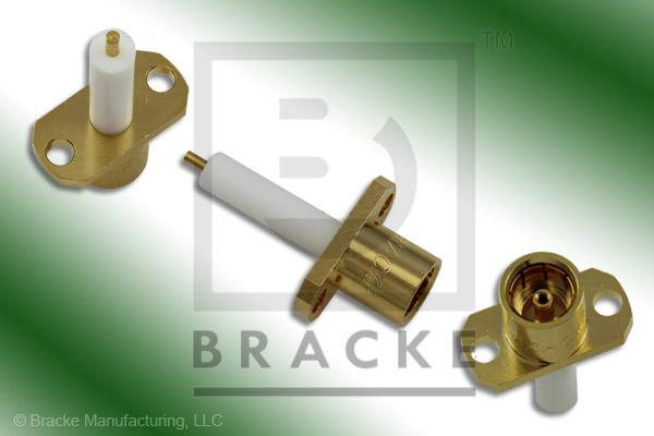 "BMA Jack 2 Hole Panel Mount Extended Dielectric Connector .050"" Round Contact"
