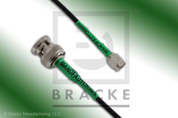 BNC Male to Reverse Polarity SMA Male Cable Assembly RG174A/U