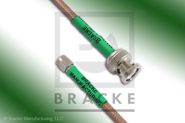 BNC Male to Reverse Polarity SMA Male Cable Assembly RG142B/U