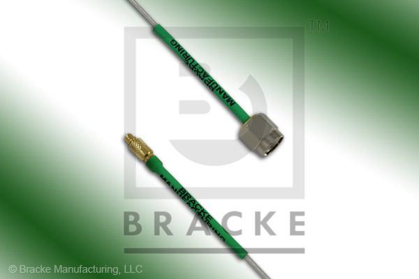 MMCX Plug to SMA Male Cable Assembly Semi-Rigid 047-Flex