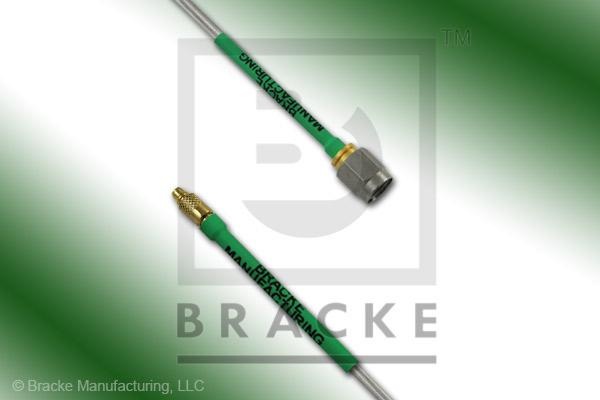 MMCX Plug to SMA Male Cable Assembly RG405-Alum