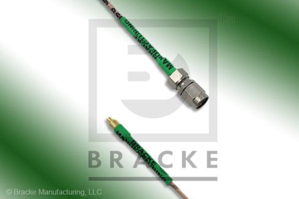 MMCX Plug to SMA Male Cable Assembly RG178B/U