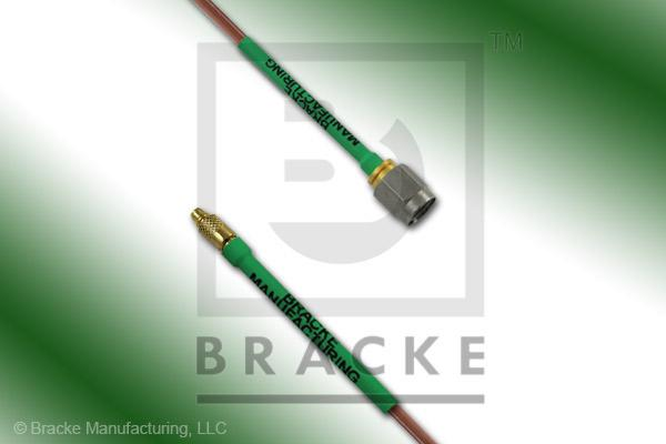 MMCX Plug to SMA Male Cable Assembly RG405/U