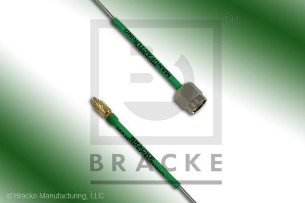 MMCX Plug to SMA Male Cable Assembly Semi-Rigid 047-Alum