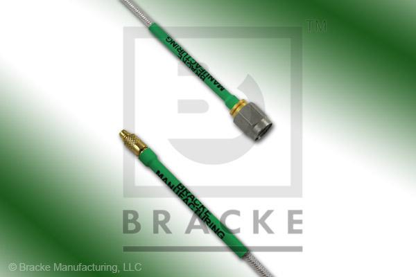 MMCX Plug to SMA Male Cable Assembly RG405-Flex
