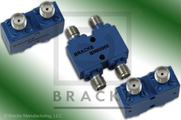 SMA Female 90 Degree Hybrid Frequency Range 2.6-5.2 GHz Coupling Loss 3.2+/-.3dB Max, VSWR 1.25