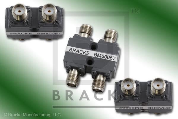 SMA Female 90 Degree Hybrid Frequency Range 4.0-8.0 GHz Coupling Loss 3.2+/-.7dB Max, VSWR 1.30