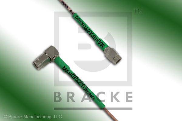 SSMA Male to SSMA Male Right Angle Cable Assembly RG178B/U