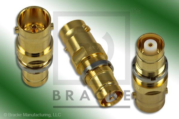 75 Ohm BNC Female to 1.6/5.6 Female Bulkhead Adapter