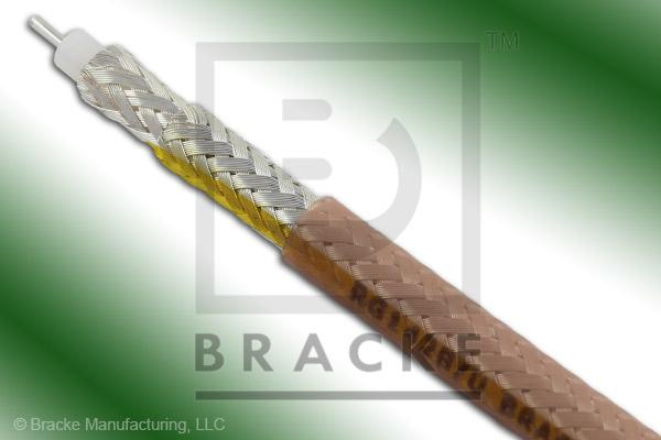 "50 Ohm, RG142B/U Bulk Cable, FEP Jacket, .195"" Dia., 2 Shields, Solid Center Conductor .039"""